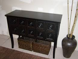black sofa table. Image Of: Console Table With Drawers And Baskets Black Sofa