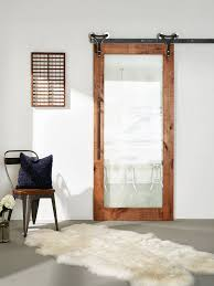 Bathrooms : Fabulous Frosted Glass Barn Door Art Iron Aged Grey 3 ...