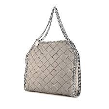 Stella McCartney Falabella Handbag 339329   Collector Square & Stella McCartney handbag in grey quilted canvas Adamdwight.com