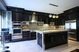 Modern Kitchen Dark Cabinets Kitchen Contemporary Kitchen Backsplash Ideas With Dark Cabinets