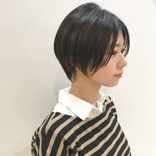 ショートのパーマなしヘアスタイルでクールな女性に Hair Line