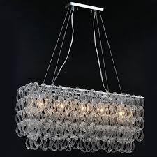 Modern Dining Room Pendant Lighting Cool ZX Modern Glass Chandelier Lustre Rectangle E48 LED Lighting Fixture
