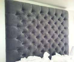 headboard bedroom furniture button border upholstered