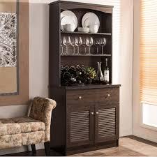 baxton studio agni dark brown wood buffet with hutch 28862 6493 hd pertaining to modern kitchen
