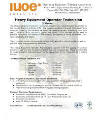Heavy Equipment Operator Resume Sample Techn Sevte