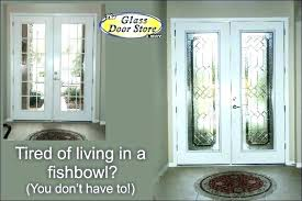 french door privacy glass front ideas doors with for panel