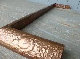 image 4 antique art nouveau copper fireplace fender