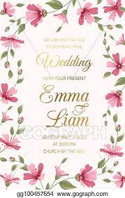wedding invitation card template pink