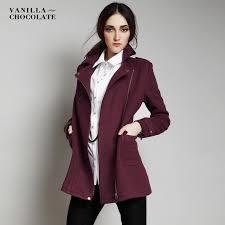 long wool pea coat women