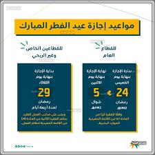 مواعيد إجازة عيد الفطر المبارك 1442 للموظفين في القطاعين العام والخاص  والبنوك 2021 - سي جي العربية