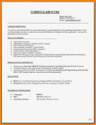 7 Format Of An Resume Gospel Connoisseur