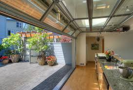 glass garage doors kitchen. Moving Wall Kitchen Beach Style With Potted Plants Themed Old- Glass Garage Doors R