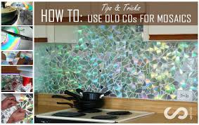 Kitchen Backsplash How To Install Stunning HOW TO Use Old CDs For Mosaic Craft Projects DIY Kitchen
