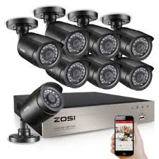 Details about ZOSI HD 8CH 1080P DVR 720P Outdoor Home Surveillance Security Camera System 8 CH