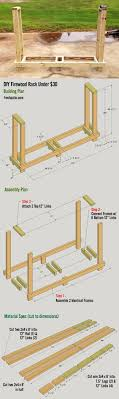 free firewood rack plan easy to build for under $30 holds 3 4 free simple woodworking plans at Free Wood Diagrams