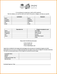 Credit Card Release Form Credit Card Form Blank Credit Card Authorization Form Template
