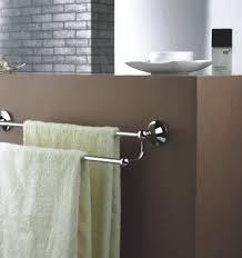 Bathroom Towel Amazing Two Yellow Towels Of Aluminium Bathroom Towel Bars At