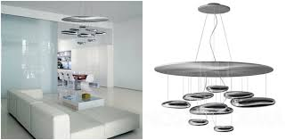 7 contemporary chandeliers that will make the difference in your living room artemide with