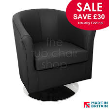 leather swivel tub chairs tuscany tub chair in black v70 faux leather with swivel base