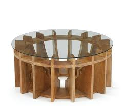 corabelle sundial natural wood glass