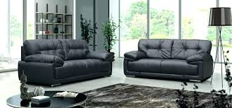 awesome black leather 3 seater sofa deals of rochester