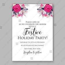 Winter Pink Rose Floral Vector Background For Holiday Invitation