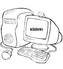 Coloring Pages Computer Computer Mouse Coloring Page Colouring Pages