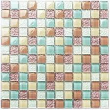 tst crystal glass tiles multi color chips kitchen mosaic art wall floor decor candy color