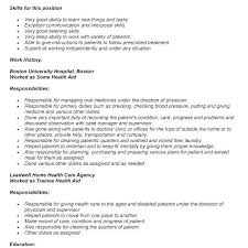Home Health Care Resume Download Home Health Aide Resume For Objective Mmventures Co
