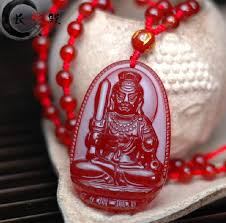 aaa natural emerald red jadeite jade pendant hand carved good luck charm zodiac kwanyin guanyin patron saint pendant necklace