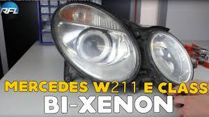 Mercedes W211 E Class Bi Xenon Projector Replacement Retrofit Tutorial Afs Headlight
