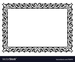 simple frame design. Brilliant Frame Simple Ornamental Decorative Frame Vector Image On Frame Design