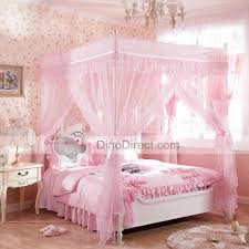 Attractive Pink Canopy Bed with Flower Canopy Top Girls Canopy Beds ...