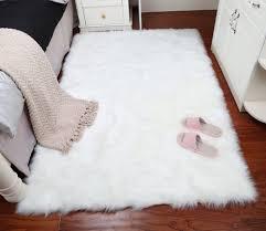 Liu Faux Wolle Teppich Wohnzimmer Langes Fell Tisch Rechteckigen