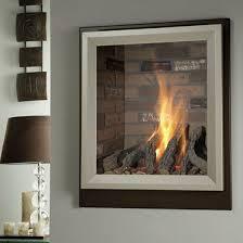 glass modern fireplace doors