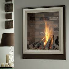 image of glass modern fireplace doors