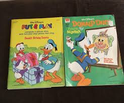 Vintage Disney Donald Duck Put And Play And Coloring Book
