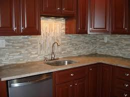 black granite countertops with tile backsplash. Kitchen Backsplash Ideas With White Cabinets Black High Gloss Wood Countertops Red Four Small Pendant Granite Tile C