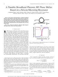 Rf Phase Shifter Design Pdf A Tunable Broadband Photonic Rf Phase Shifter Based On