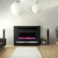 electric fireplace contemporary closed hearth free standing nefp42 1815b