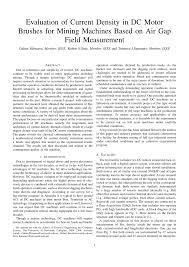 Pdf Evaluation Of Current Density In Dc Motor Brushes For