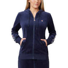 fila jacket womens. fila ladies\u0027 velour hooded jacket, navy ****new**** jacket womens