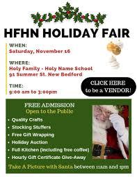 Holiday Name Holiday Fair November 16 Holy Family Holy Name School