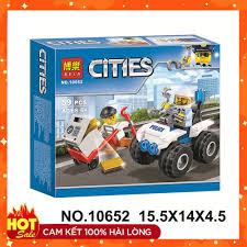 LEGO ĐỒ CHƠI ⚡ GIÁ RẺ GIẬT MÌNH ⚡Bộ Đồ Chơi lego Lắp Ráp Mô Hình Cảnh Sát  Bole 10652 gồm 59pcs