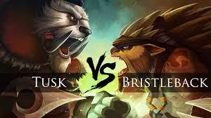 dota 2 bristleback vs tusk one click battle youtube
