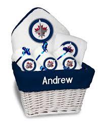 personalized winnipeg jets um gift basket