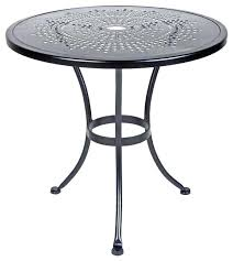 small patio table and chair set round with umbrella hole for bistro stylish outdoor chic bist