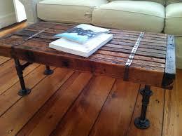 Nice Modern Industrial Coffee Table, Reclaimed Barnwood With Steel Pipe Legs.  $375.00, Via Etsy Pictures Gallery