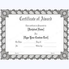 Formal Certificates Award Certificate Formal Gray Border Awards Certificates