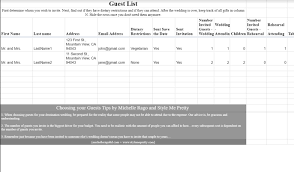 wedding list spreadsheet 7 free wedding guest list templates and managers